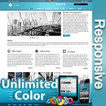 Ares Sky Blue - Responsive Skin - Bootstrap - Corporate / Business / Mobile Tablet Skin