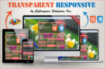Transparent Responsive - Pink Color