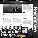Ares Black - Responsive Skin - Bootstrap - Corporate / Business / Mobile Tablet Skin