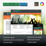 Invisible Dog Premium Skin // DNN or Sharepoint // Unlimited Colors // Responsive 