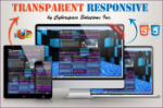 Transparent Responsive - Purple Color