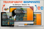 Transparent Responsive - Teal Color