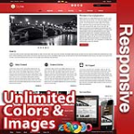 Ares FireBrick Red - Responsive Skin - Bootstrap - Corporate / Business / Mobile Tablet Skin