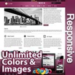 Ares Purple - Responsive Skin - Bootstrap - Corporate / Business / Mobile Tablet Skin