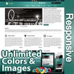 Ares Teal Blue - Responsive Skin - Bootstrap - Corporate / Business / Mobile Tablet Skin