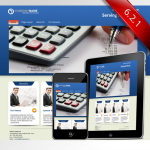 Blue Corporate business Skin 10396_compatible with DNN4.5.6_Free 4Modules+PC/Mobile
