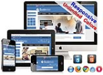 (DNN5/6/7) Unlimited Colors Business Responsive DNN Skin Pack 016 with CustomPanel/Gallery/Blog