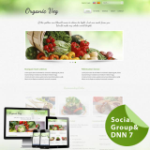 Organic Food**Mobile/Responsive Skin 60072_Light Green**4 Free Modules*DNN6/7.x