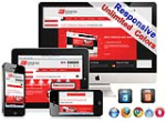 (DNN5/6/7) Unlimited Colors Business Responsive DNN Skin Pack 017 with CustomPanel/Gallery/Blog