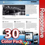 Ares 30 Colors Pack - Responsive Skin - Bootstrap - Corporate / Business / Mobile Tablet Skin