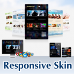 Responsive/Mobile Skin Pack 60072Black*6 Colors*Social Groups*Mega Menu**Any Websites*DNN5/6/7.x