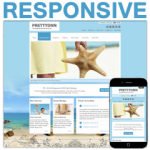 Blue Ocean Responsive Skin / HTML5 & CSS3 / Bootstrap Typography / Mobile / Sea / Summer