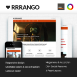 Rrrango Premium Skin // DNN or Sharepoint // Unlimited Colors // Responsive