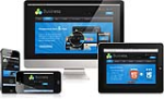 DNN5/6/7 Business Mobile Skin 165 Mobile Desktop iPad Responsive/PhotoAlbums/3D Gallery/Social/Blog
