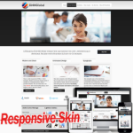 Responsive Multipurpose Black DNN Skin 10329 .compatible with DNN4.5.6.7