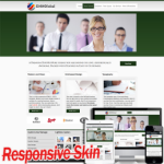 Responsive Multipurpose Green DNN Skin 10329 .compatible with DNN4.5.6.7