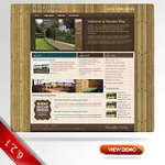 Wood/fence Skin with slide banner_compatible with DNN4.5.6.7