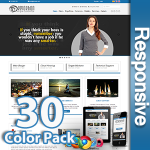 Demophon 30 Colors Pack - Responsive Skin - Bootstrap - Corporate / Business / Mobile Tablet Skin