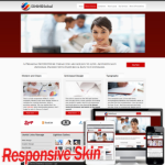 Responsive Clean Red Multipurpose  DNN Skin 10329 .compatible with DNN4.5.6.7
