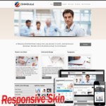 Responsive Cream Multipurpose  DNNSkin 10329.compatible with DNN4.5.6.7