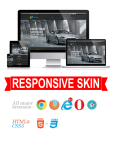 Business DNNSmart WZ0016 Black Responsive Skin - Grid Responsive Layout, Mobile, Tablet, Car
