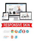Business DNNSmart WZ0018 Dodgerblue Responsive Skin - Responsive Layout, Mobile, Tablet, Company