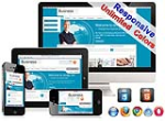 (DNN5/6/7) Unlimited Colors Business Responsive Skin Pack 008 with DNNGallery/Blog/Page Template