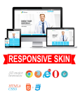 Business DNNSmart WZ0019 Lightskyblue Responsive Skin - Responsive Layout, Mobile, Tablet, Medical