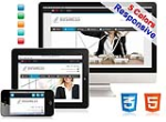(DNN5/6/7) 5 colors HTML5 CSS3 Business Responsive Skin Pack 005