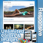 Santa Maria // Pro Edition // Unlimited Colors & Images / Responsive / Bootstrap / 10 Modules