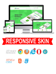 Business DNNSmart WZ0022 Lightgreen Responsive Skin - Responsive Layout, Mobile, Tablet, Electronic
