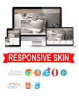 Business DNNSmart WZ0023 Wood Responsive Skin - Responsive Layout, Mobile, Tablet, Hotel