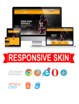 Business DNNSmart WZ0024 Orange Responsive Skin - Responsive Layout, Mobile, Tablet, Sports