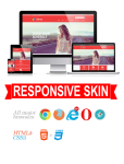 Business DNNSmart WZ0025 Red Responsive Skin - Responsive Layout, Mobile, Tablet, Clothing