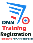DNN Training Registration Template For Action Form