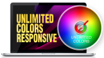 Unlimited Colors DNNSmart WZ0028  Responsive Skin - Responsive Layout, Mobile, Tablet