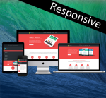 Business DNNSmart ZF0030 Red Responsive Skin - Responsive Layout, Mobile, Tablet, Bootstrap