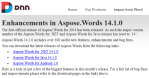 DNN Import from Microsoft Word using Aspose.Words