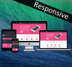 Business DNNSmart ZF0035 Pink Responsive Skin - Responsive Layout, Mobile, Tablet, Bootstrap