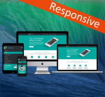 Business DNNSmart ZF0036 Dark Cyan Responsive Skin - Responsive Layout, Mobile, Tablet, Bootstrap
