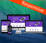 Business DNNSmart ZF0039 Purple Responsive Skin - Responsive Layout, Mobile, Tablet, Bootstrap