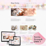 Beauty/Jewellery**Mobile/Responsive Skin 60072_Pink*4 Free Modules*DNN6/7.x