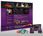 Responsive/Mobile Skin**Ballroom/Dance Studio_11465 Purple&Orange_Free Modules_DNN 5/6/7.x