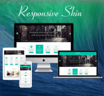 Business ZF0045 Turquoise Responsive Skin - Responsive Layout, Mobile, Bootstrap, Mega Menu