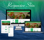 Business ZF0045 Green Responsive Skin - Responsive Layout, Mobile, Bootstrap, Mega Menu