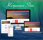 Business ZF0045 Red Responsive Skin - Responsive Layout, Mobile, Bootstrap, Mega Menu