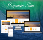 Business ZF0045 Yellow Responsive Skin - Responsive Layout, Mobile, Bootstrap, Mega Menu