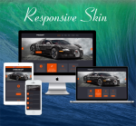Business DNNSmart  ZF0045 Black Responsive Skin - Responsive Layout, Mobile, Bootstrap, Car