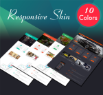 Business DNNSmart ZF0045 Pack Responsive Skin -  Mobile, Tablet, Bootstrap, Mega Menu