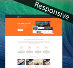 Unlimited Colors DNNSmart ZF0048 Responsive Skin - Responsive Layout, Mobile, Tablet, Business